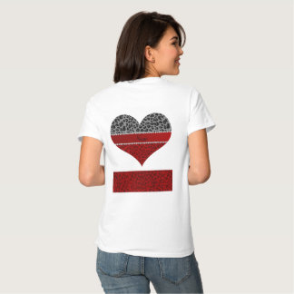 Personalisiertes graues rotes Leopardnamensmuster Tshirt