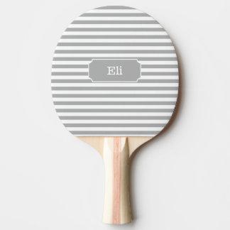 Personalisiertes graues StreifenPing Pong Paddel Tischtennis Schläger