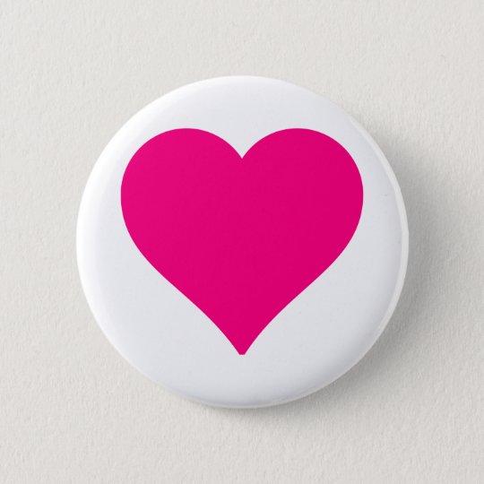 Personalisiertes großes rosa Liebe-Herz Runder Button 5,1 Cm