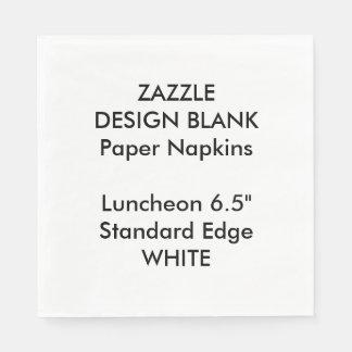 Personalisiertes großes WEISSES Papierserviette