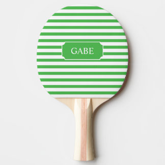 Personalisiertes grünes StreifenPing Pong Paddel Tischtennis Schläger