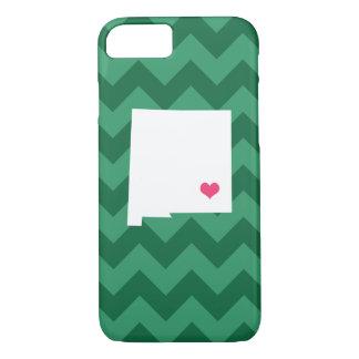 Personalisiertes grünes Zickzack New-Mexiko Herz iPhone 8/7 Hülle