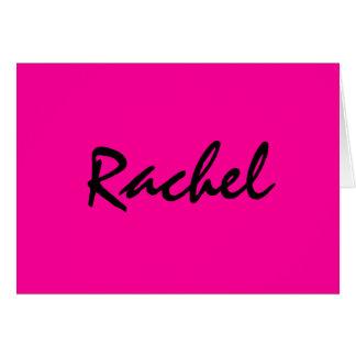 Personalisiertes heißes Rosa notecard Mitteilungskarte