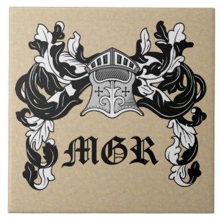 Personalisiertes heraldisches Sturzhelm-und Keramikfliese