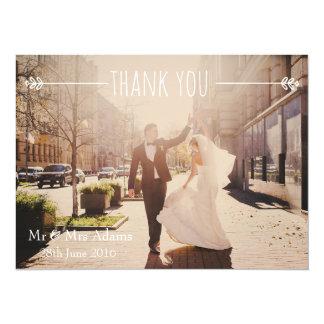 Personalisiertes Hochzeits-Foto DANKEN IHNEN zu 14 X 19,5 Cm Einladungskarte