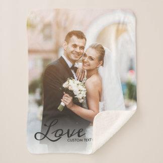 Personalisiertes Hochzeits-Foto-kundenspezifischer Sherpadecke