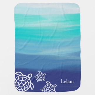 Personalisiertes Honu Seeschildkröte-Ozean-Wasser Puckdecke