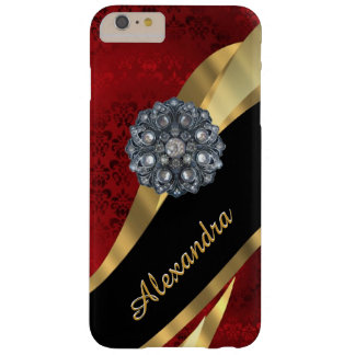 Personalisiertes hübsches elegantes rotes barely there iPhone 6 plus hülle