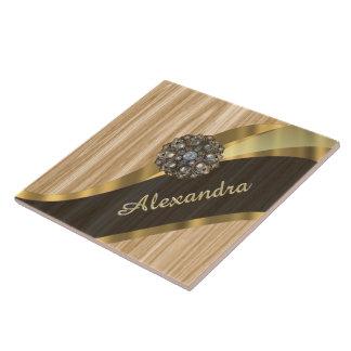 Personalisiertes hübsches Imitateichenholz Fliese