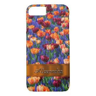 Personalisiertes hübsches Tulpe-Blumenfeld iPhone 8/7 Hülle