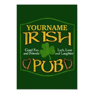 Personalisiertes irisches Pub-Zeichen 12,7 X 17,8 Cm Einladungskarte