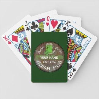 Personalisiertes irisches Pubzeichen Bicycle Spielkarten