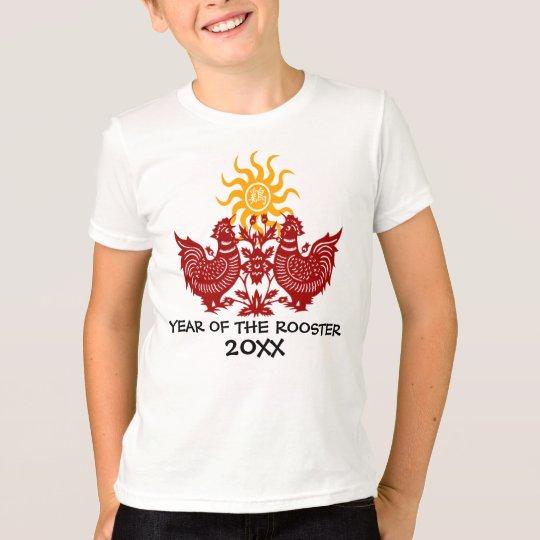 Personalisiertes Jahr des Hahns W/Year T-Shirt