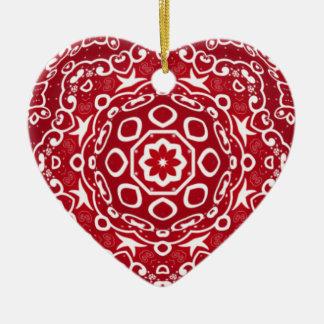 Personalisiertes kaleidoskopisches Herz Ornament.1 Keramik Ornament