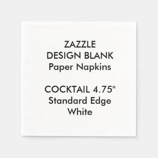 Personalisiertes kleines WEISSES Papierserviette