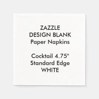 Personalisiertes kleines WEISSES Papierservietten