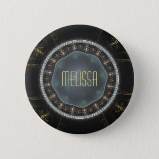 Personalisiertes metallisches verziertes Steampunk Runder Button 5,1 Cm