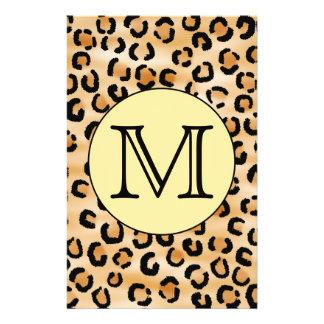 Personalisiertes Monogramm-Leopard-Druck-Muster 14 X 21,6 Cm Flyer