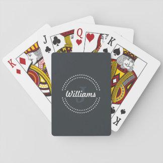 Personalisiertes Monogramm-Spielkarten Spielkarten