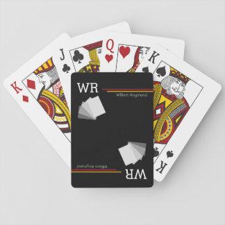 personalisiertes Namensinitialenschwarzes Spielkarte