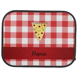 Personalisiertes niedliches Pizzanamensrot Automatte