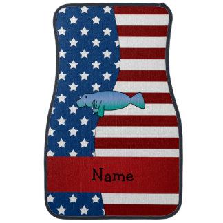 Personalisiertes patriotisches Namensmanatis Autofußmatte