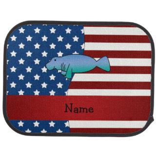 Personalisiertes patriotisches Namensmanatis Automatte