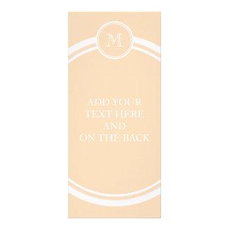Personalisiertes Pfirsich-Hauch-Spitzen gefärbt Werbekarte