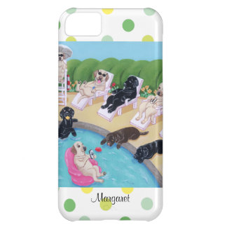 Personalisiertes Poolside-Party Labradors iPhone 5C Hülle