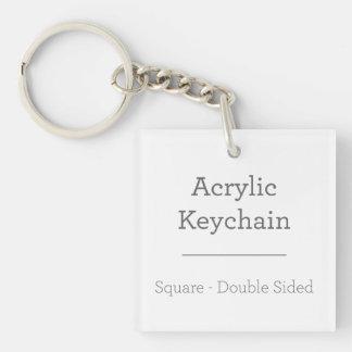 Personalisiertes quadratisches Keychain Beidseitiger Quadratischer Acryl Schlüsselanhänger