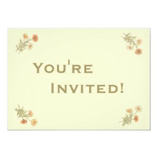 Personalisiertes | Ringelblumen-Geburtstags-Party 12,7 X 17,8 Cm Einladungskarte