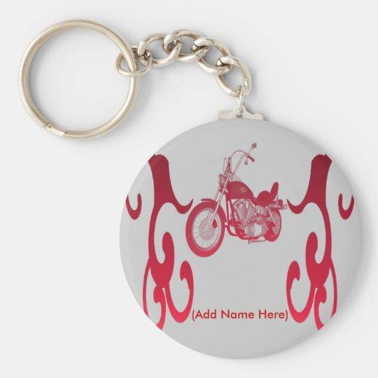 Personalisiertes rotes Fahrrad - Keychain Standard Runder Schlüsselanhänger