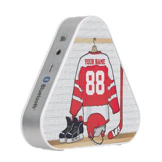 Personalisiertes rotes und weißes Eis-Hockey Bluetooth Lautsprecher