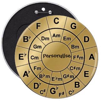 Personalisiertes Runder Button 15,3 Cm
