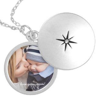 Personalisiertes rundes Silber überzogener Locket Runde Medaillon Halskette