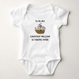 Personalisiertes Schiff Baby-Kapitän-Pirat Baby Strampler