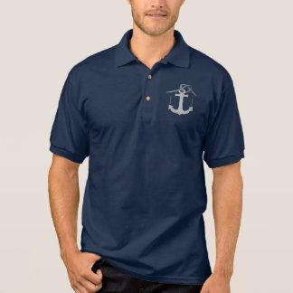 Personalisiertes Seil-und Anker-Druck-Logo Polo Shirt