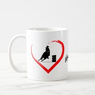 Personalisiertes Silhouette-Fass-laufendes Pferd, Kaffeetasse