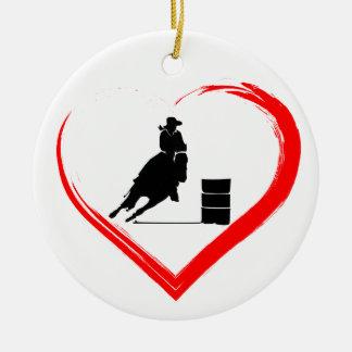 Personalisiertes Silhouette-Fass-laufendes Pferd, Keramik Ornament