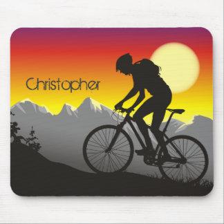 Personalisiertes Silhouette Mountin Fahrrad Mauspads