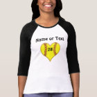 Personalisiertes Softball-Herz-Shirt für Mädchen T-Shirt