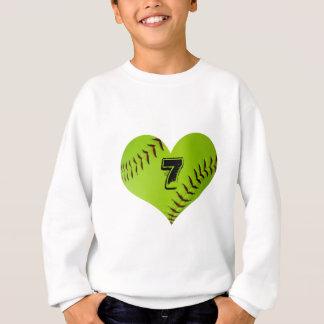 Personalisiertes Softballherz Sweatshirt