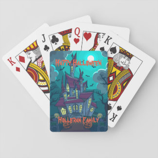 Personalisiertes Spuk Haus-Spielkarten Halloweens Spielkarten