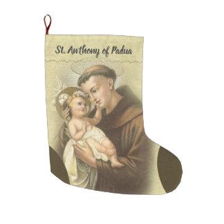 Personalisiertes St Anthony von Padua-Gebet Großer Weihnachtsstrumpf