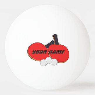 Personalisiertes Tischtennis-rotes Schwarzes Tischtennis Ball