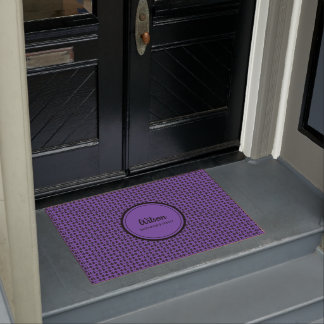 Personalisiertes ulra violette geometrische Webart Türmatte