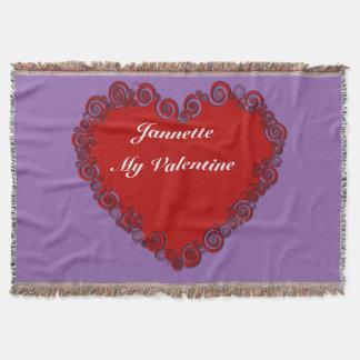 Personalisiertes Valentine-Herz Decke