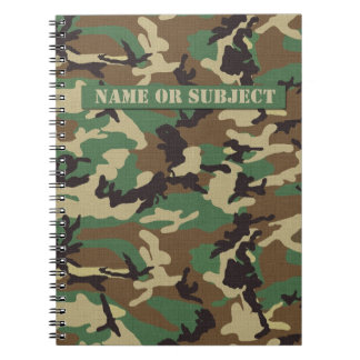 Personalisiertes Waldmilitär tarnt Notizbuch Notizblock