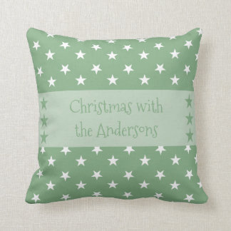 Personalisiertes Weihnachten hat Grün in der Zierkissen