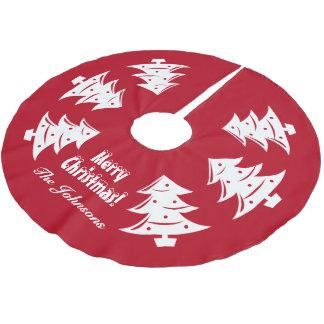 Personalisiertes Weihnachtsbaum-Dekoration Polyester Weihnachtsbaumdecke